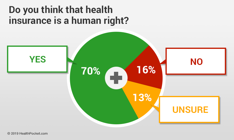 Graph showing results of 'Is Healthcare a Human Right' survey